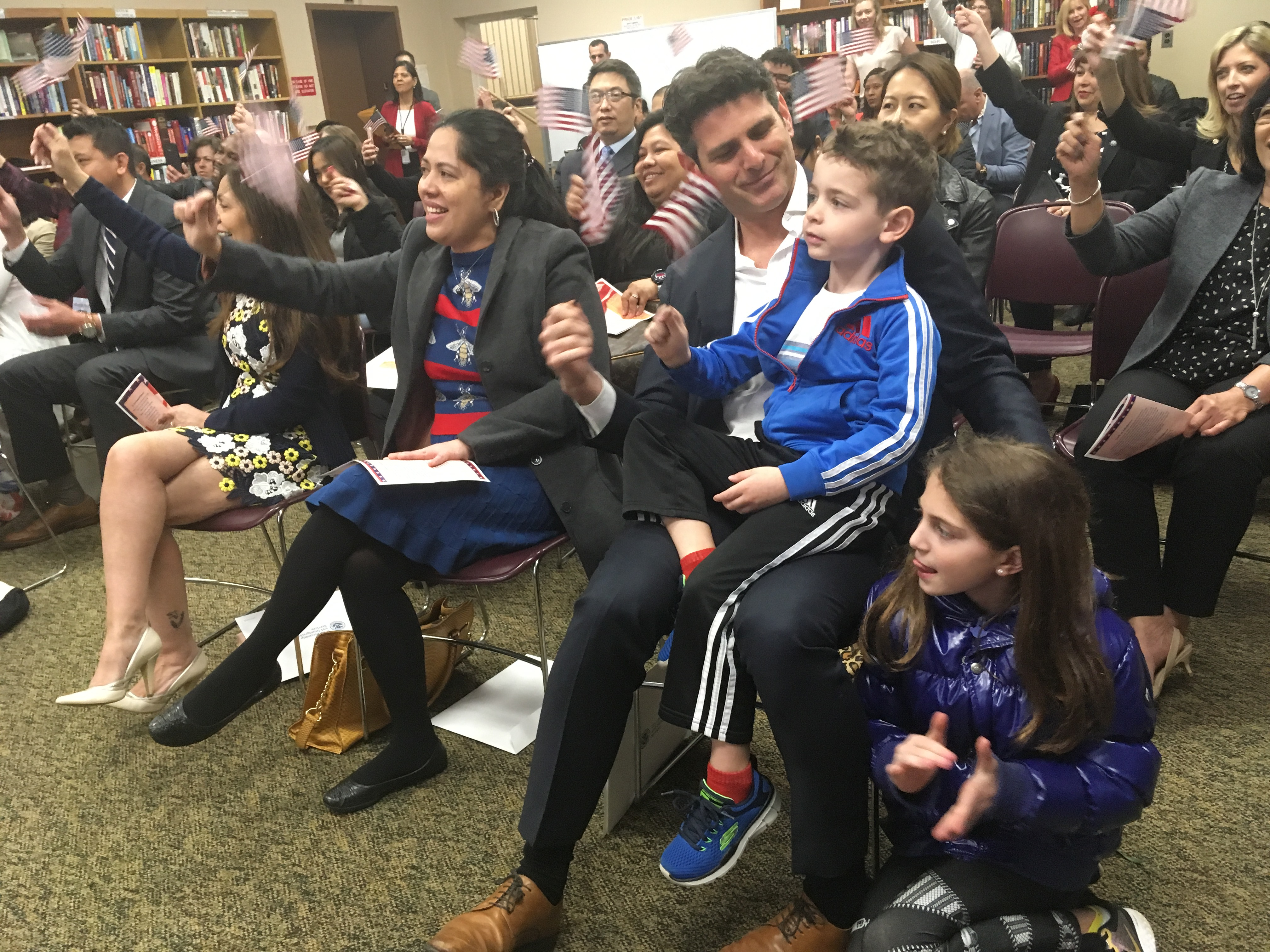THE NEW AMERICANS: Westwood Public Library Hosts Naturalization Ceremony