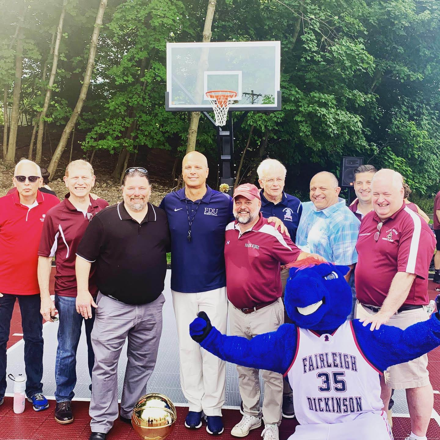 Let The Games Begin Park Ridge S New Basketball Court Opens Pascack Press Northern Valley Press